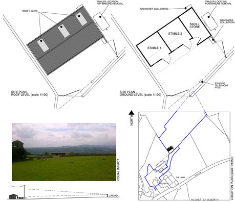 Architects Chisworth ¦ Stables ¦ Planning Application ¦ Edge of Conservation ¦ North West Construction Professionals ¦ Building Design Team