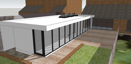 Architects salford house extension north west for Glass garden office